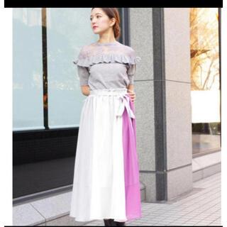 レディアゼル(REDYAZEL)のECLIN カラーブロックギャザリングスカート(ロングスカート)