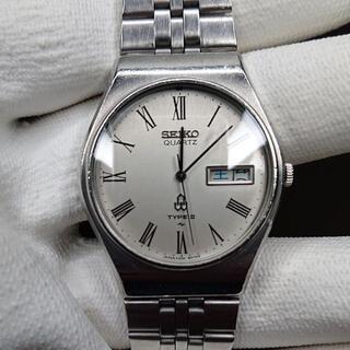 セイコー(SEIKO)のSEIKO TIPE2 メンズ 文字盤シルバー ローマンインデックス(腕時計(アナログ))