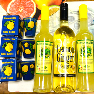 KALDI - カルディ 詰め合わせ! 大人気レモン!リキュール2本&サングリア1本&グラス3個