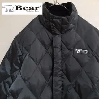 Bear USA - 【人気】ベアー USA ダウンジャケット グレー ワンポイントロゴ刺繍
