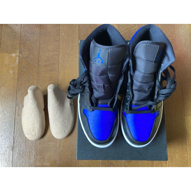 NIKE(ナイキ)のNIKE AIR JORDAN 1 MID HYPER ROYAL BLACK メンズの靴/シューズ(スニーカー)の商品写真