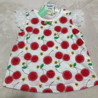 西松屋 - ベビー 女の子 さくらんぼ 半袖 Tシャツ 60 70 新品