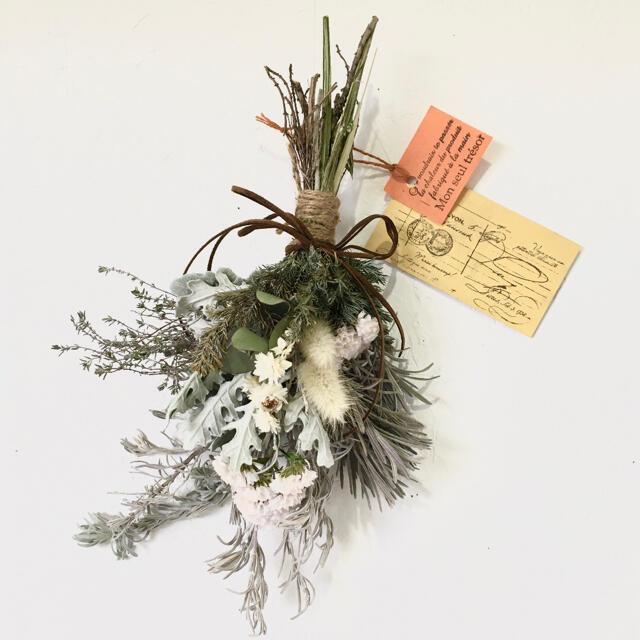 4/2作 香り立つ無農薬 フレッシュダースティー ホワイトラベンダースワッグ ハンドメイドのフラワー/ガーデン(ドライフラワー)の商品写真