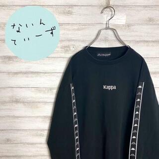 カッパ(Kappa)の【入手困難】kappa カッパ ブラック ビックサイズ サイドライン ロンT(Tシャツ/カットソー(七分/長袖))