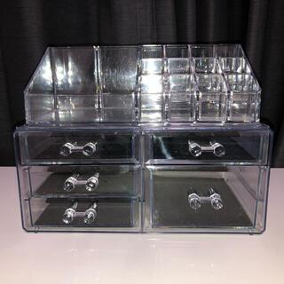 アクリル化粧品収納ケース(メイクボックス)