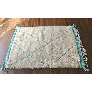 アクタス(ACTUS)のモロッコ ラグ rug ベニワレン ザナフィ ブルー プフ クッション(ラグ)