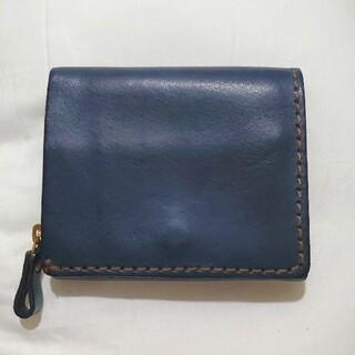 ヘルツ(HERZ)のHERZ 小型の二つ折り財布(NSA-24) デニムブルー(折り財布)