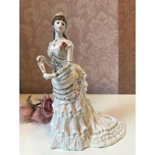 ロイヤルドルトン(Royal Doulton)の〈限定品〉ロイヤルウースター レディ フィギュリン 陶器人形 ドレス 舞踏会(置物)