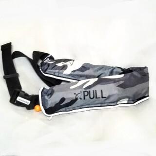 新品 ライフジャケット 手動式 自動膨張 インフレータブル ベルトタイプ 釣り(ウエア)