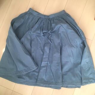 イデー(IDEE)の膝丈スカート くすみブルー ミナぺルホネン イデー(ひざ丈スカート)