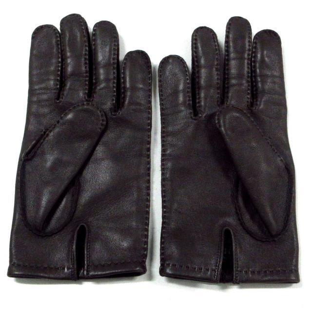 Hermes(エルメス)のエルメス 手袋美品  アピ ダークブラウン レディースのファッション小物(手袋)の商品写真