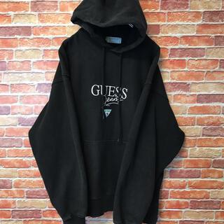 GUESS - ゲス GUESS パーカー XL ゆるダボ オーバーシルエット ブラック 黒