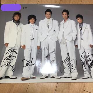 トキオ(TOKIO)のTOKIO サイン入りポスター 非売品 懸賞品 トキオ(アイドルグッズ)