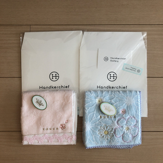 TOCCA - トッカ タオルハンカチ桜 2枚セット 袋付きお値下げしました