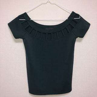 アンビー(ENVYM)のカットワーク デザイン カーキ(カットソー(半袖/袖なし))