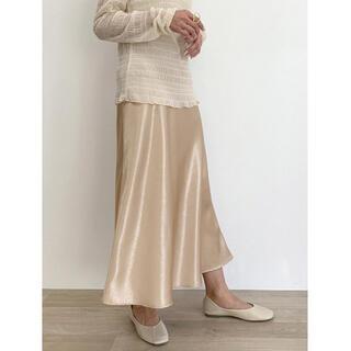 アイスー(i-SOOK)のI-SOOK Satin flare skirt  サテンフレアスカート(ロングスカート)