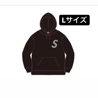 シュプリーム(Supreme)のSwarovski  S Logo Hooded Sweatshirt 黒(パーカー)