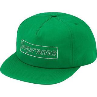 シュプリーム(Supreme)のsupreme KAWS Chalk Logo 5-Panel green(キャップ)