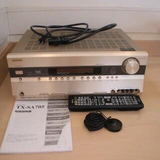デノン(DENON)のONKYO TX-SA705 リモコン 説明書 集音マイク AVアンプ(アンプ)