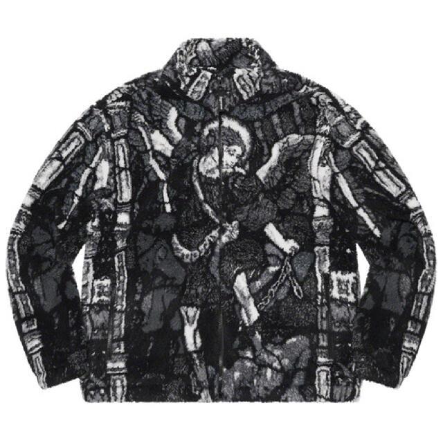 Supreme(シュプリーム)の新品 送料無料 Supreme Saint Michael Fleece 黒 S メンズのジャケット/アウター(その他)の商品写真