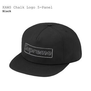 シュプリーム(Supreme)のSupreme KAWS Chalk Logo 5 Panel Black(キャップ)