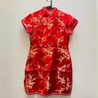 ボディライン(BODYLINE)のチャイナドレス 赤(衣装)