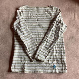 オーシバル(ORCIVAL)のオーシバル  ベージュボーダー 長袖Tシャツ(Tシャツ(長袖/七分))
