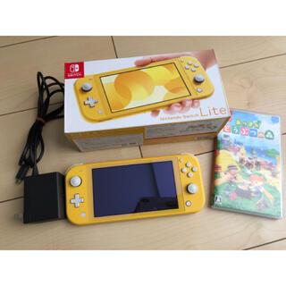 ニンテンドースイッチ(Nintendo Switch)のNintendo Switch Lite あつまれどうぶつの森セット(家庭用ゲーム機本体)