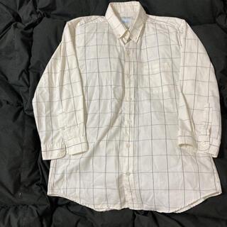 シマムラ(しまむら)のメンズ 白地チェックシャツ(シャツ)