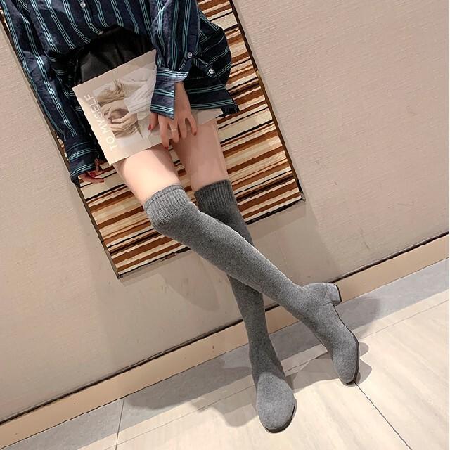 ZARA(ザラ)のニーハイ ソックスブーツ【2color】 レディースの靴/シューズ(ブーツ)の商品写真