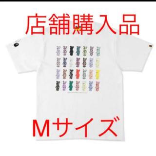 アベイシングエイプ(A BATHING APE)のMサイズ ベアブリック コラボ Tシャツ Bape  28周年記念(Tシャツ/カットソー(半袖/袖なし))