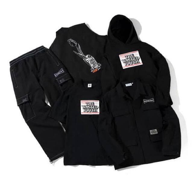 GDC(ジーディーシー)のwasted youth black eye patch ジャケット xl メンズのジャケット/アウター(ブルゾン)の商品写真