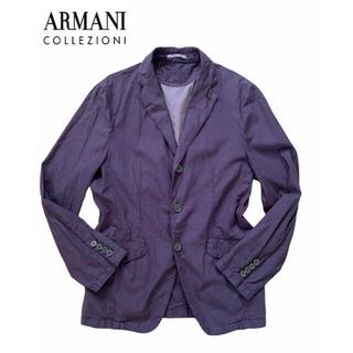 ARMANI COLLEZIONI - 美品爽快/Armani Collzioni/コットンリネンジャケット/