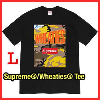 シュプリーム(Supreme)のSupreme®/Wheaties® Tee ブラック(Tシャツ/カットソー(半袖/袖なし))
