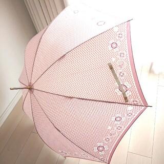 セリーヌ(celine)のセリーヌ  傘 花柄 ピンク×白(傘)