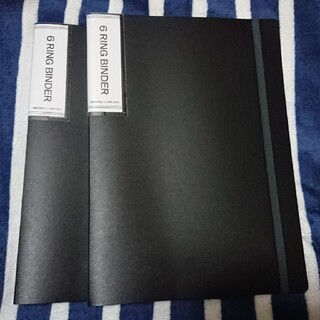 ダイソー 6リングファイル 黒 2点セット(その他)