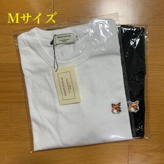 MAISON KITSUNE' - メゾンキツネ フォックスヘッドパッチ Tシャツ 白黒セット Mサイズ