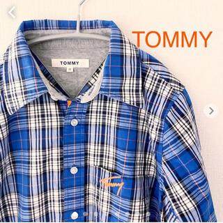 トミー(TOMMY)のTOMMY トミー ロングシャツ Mサイズ 長袖 チェック(シャツ)