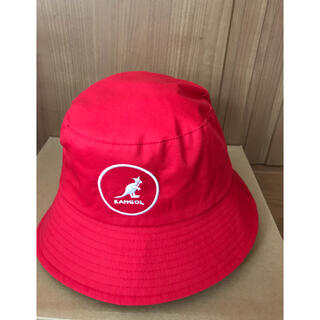 KANGOL - 【半額】KANGOL バケットハット 赤色 Lサイズ