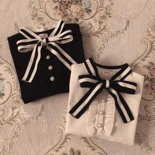 snidel - London stripe ribbon knit