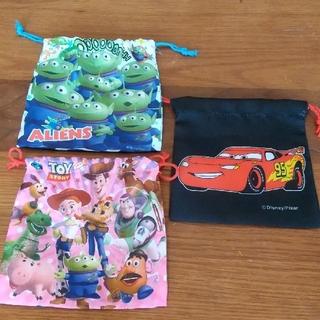 ディズニー ピクサー  巾着袋 3点セット 新品未使用(その他)