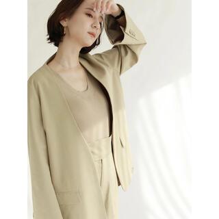 トゥデイフル(TODAYFUL)のlouren frare sleeve nocollar jacket(ノーカラージャケット)
