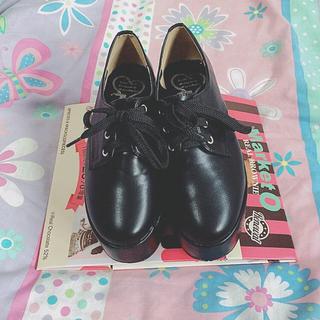 ノーフィアー(NO FEAR)の厚底レースアップシューズ(ローファー/革靴)