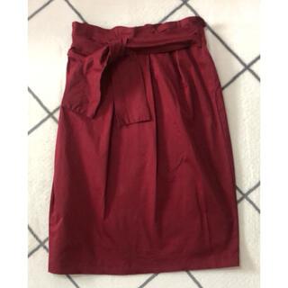 バックナンバー(BACK NUMBER)の最終値下げ♥️膝丈スカート ワインレッド(ひざ丈スカート)