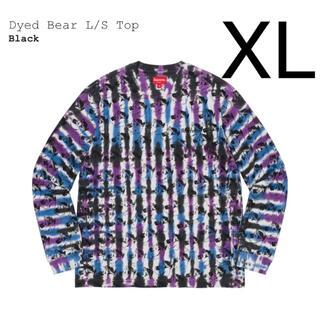 シュプリーム(Supreme)の希少 XLサイズ Supreme dyed bear L/S top ブラック(Tシャツ/カットソー(七分/長袖))