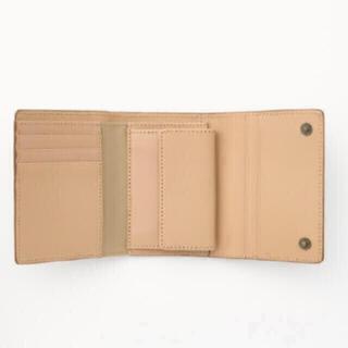 ムジルシリョウヒン(MUJI (無印良品))の【新品】MUJI イタリア産ヌメ革は三つ折り財布  (財布)