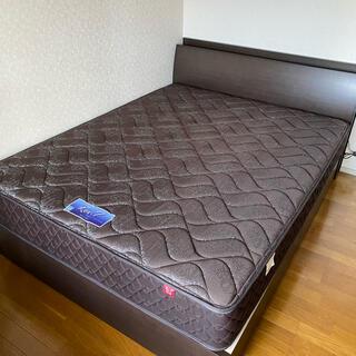 フランスベッド - 【美品】東京ベッド ワイド ダブル マットレスフレームセット