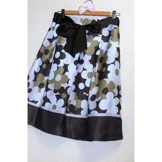 GALLERY VISCONTI - 美品 ギャラリービスコンティ L フラワー デザイン スカート 3