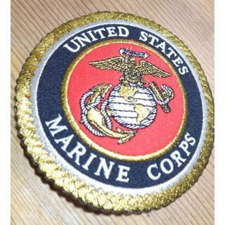 大型豪華■黒赤◆アメリカ軍 米軍 海軍 MC海兵隊 刺繍ワッペン(パッチ)(その他)
