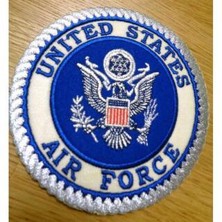 大型豪華■青白◆アメリカ軍 米軍 USAF 空軍 刺繍ワッペン(パッチ)(その他)